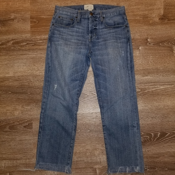 Current/Elliott Denim - Current Elliot The Crossover Straight Leg Jeans 27